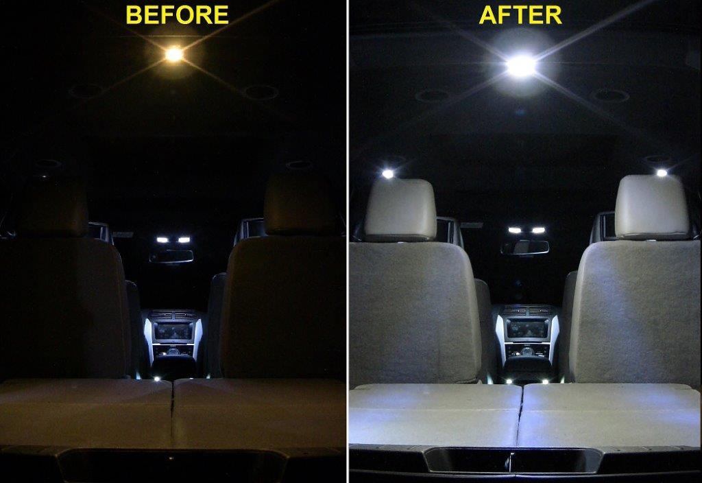 2011 ford fusion interior lights