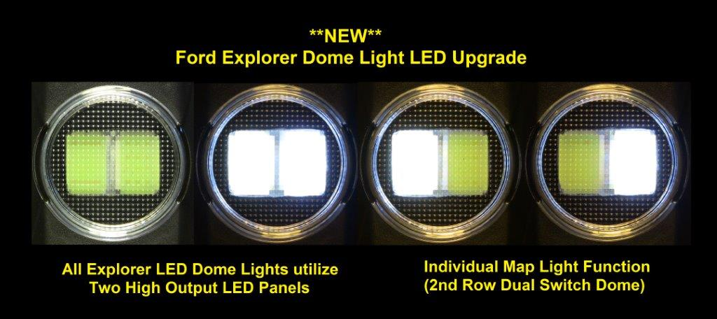 Two Dome Light Led Upgrade Bulb Package Explorer S Without Sunroof