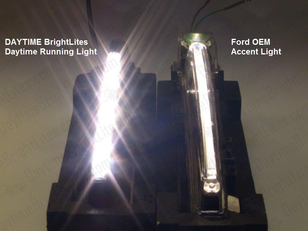 Led Headlight Kit >> Drive Bright | Ford Taurus LED DRL Kit – Standard BLACK ...